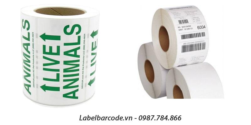 Chất liệu giấy decal remove in tem nhãn mã vạch chính hãng