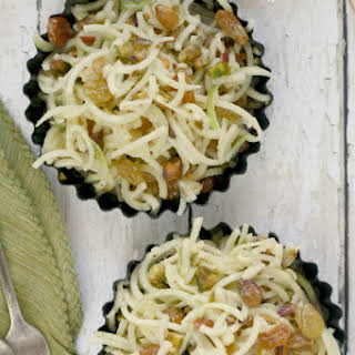 Tangled Apple, Pistachio, and Golden Raisin Salad.