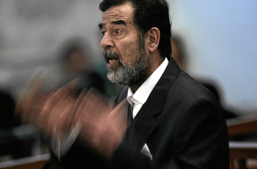 Former Iraqi president Saddam Hussein, who was hanged in late 2006 for crimes against humanity.