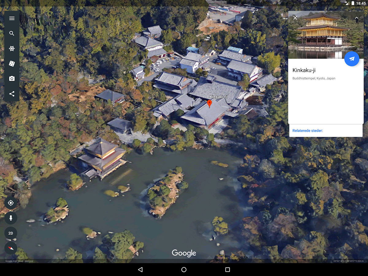 Google Earth – screenshot