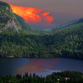 Storm in the distance. by Scott Thomas - Landscapes Mountains & Hills ( #landscape, #moutains, #nature, #sunset, #strom,  )