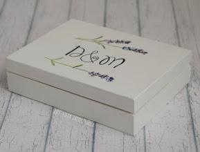 Photo: pudełko na obrączki lavender