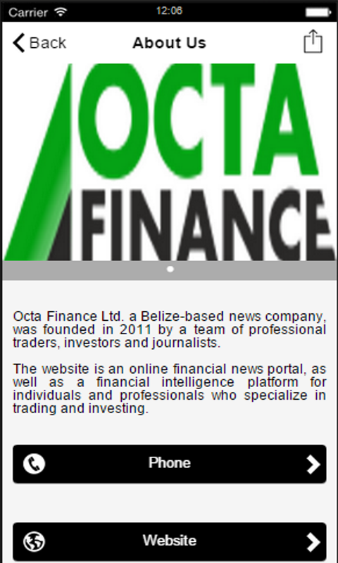 Octa Finance- screenshot