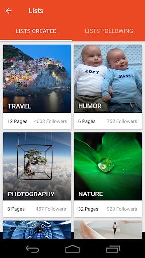 Screenshot 5 for StumbleUpon's Android app'