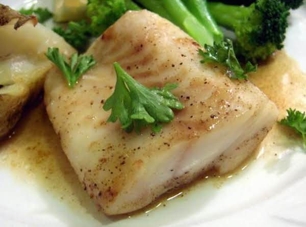 Cod Baked In Wine With Be'chamel Sauce