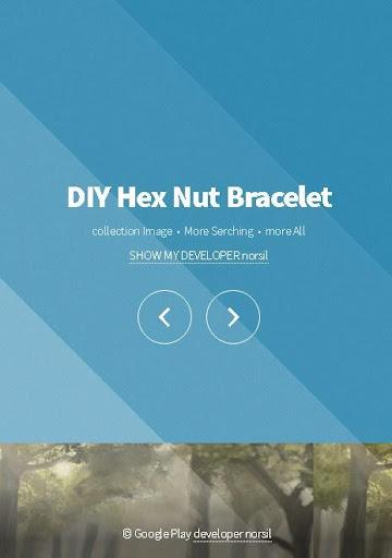 DIY六角螺母手链