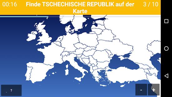 Länder Europas Karte.Europa Map Quiz Europäische Länder Hauptstädte Apps Bei Google