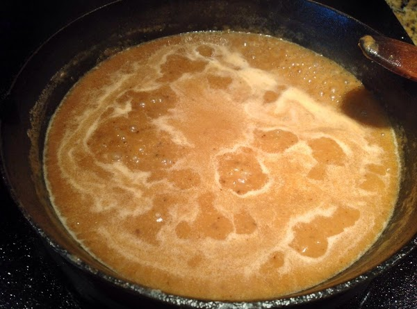 Add enough water to roux to make a gravy like consistency.  Bring to...