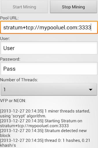 Crypto Miner (BTC,LTC,X11,XMR) screenshot 1