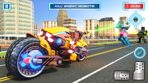 Lion Robot Transform Bike War : Moto Robot Games 1.0.8 screenshots 2