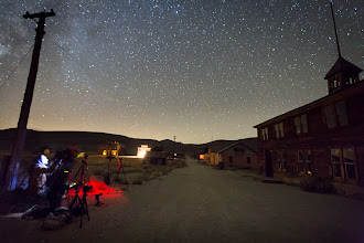 Photo: Night Photography at Bodie Schoolhouse
