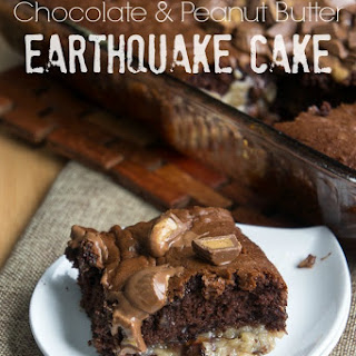 Chocolate Peanut Butter Earthquake Cake.