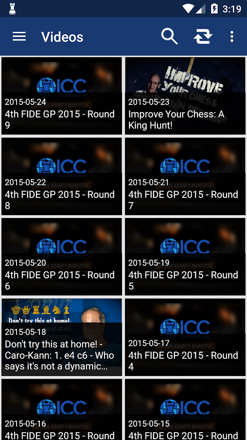 Chess at ICC- screenshot