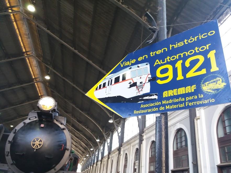 Señalización del Viaje en tren histórico de AREMAF