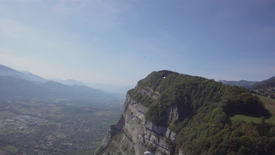 Photo: Awesome cliffs ahead to the south towards Grenoble