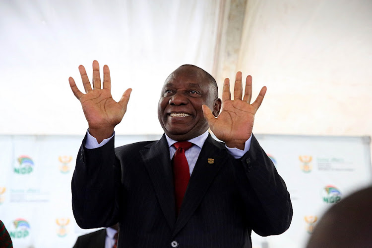 President Cyril Ramaphosa during his visit in Kokstad handing over title deeds to beneficiaries of the Franklin Housing Project. Picture: THULI DLAMINI