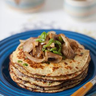 Oat Bran Pancake Cake with Mushroom Caviar Recipe