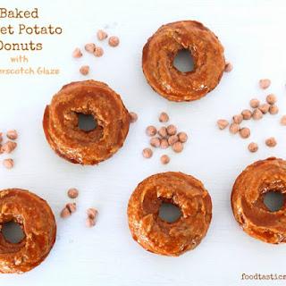 Baked Sweet Potato Donuts with Butterscotch Glaze