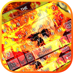 Tải Flaming Skull Keybaord Theme APK