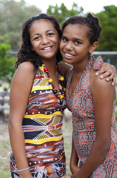 """Photo: Tiara Thorn and Bianca Garlett at an Aboriginal Girls' Group in Bunbury, WA. Photo: Bonnie Savage/OxfamAUS  """"The girl's youth group is about self esteem and it's about them recognising that they're important, that they are our next leaders,"""" says social worker Joyce Dimer. """"We started off with nothing … the kids were at risk. They felt they had no hope for their futures."""" These days, 10-15 local girls drop by each week to have a chat.   """"They now have a sense of expectation of a more positive future,"""" Joyce explains.  More than half of Aboriginal and Torres Strait Islander people are under 30, and have every right to expect a positive future (and, ultimately, a healthy old age).   Register an event for next week's National Close the Gap Day and show your support for Indigenous health equality! http://www.oxfam.org.au/act/events/national-close-the-gap-day/ — in Bunbury, Western Australia."""