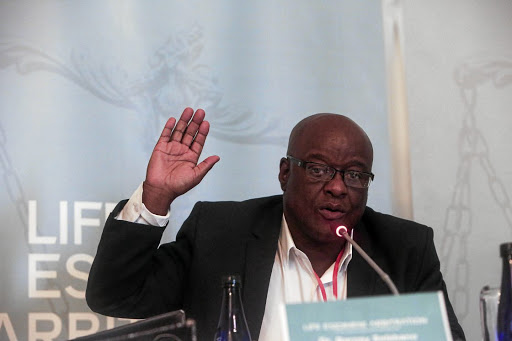 Suspended Gauteng department of health head  Barney Selebano  gives testimony on  Life Esidimeni tragedy under oath.  / Alaister Russell