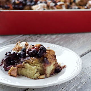 Blueberry Apple Overnight Bread Pudding