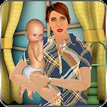 Virtual Single Mom New Baby Born Sim Icon