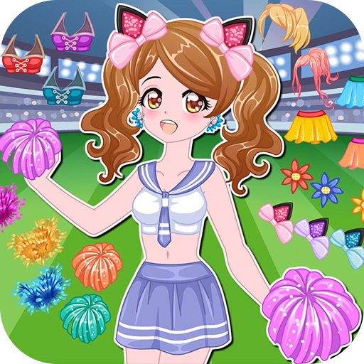 Cheerleader dress up game Icon