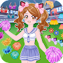 Cheerleader dress up game