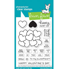 Lawn Fawn Clear Stamps 3X4 - How You Bean? conversation heart add-on