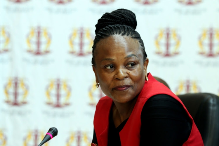 Public Protector Busisiwe Mkhwebane during a meeting at the Mpumalanga legislature on March 02, 2017 in Nelspruit.