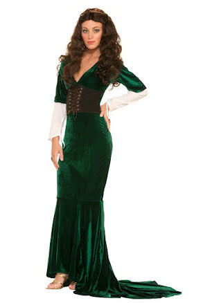 Medeltidsklänning, grön