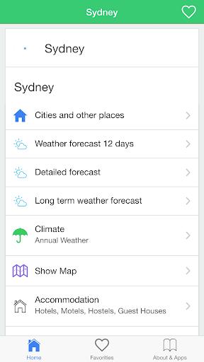 シドニーの天気予報 今日&長期のための条件
