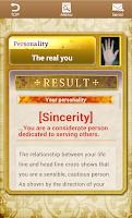 Screenshot of The Japanese Palmistry