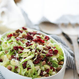 Spring Shaved Brussels Sprout Salad with Lemon Poppyseed Dressing.