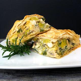 """Leek With Feta """"Börek"""" Pie [vegetarian]"""