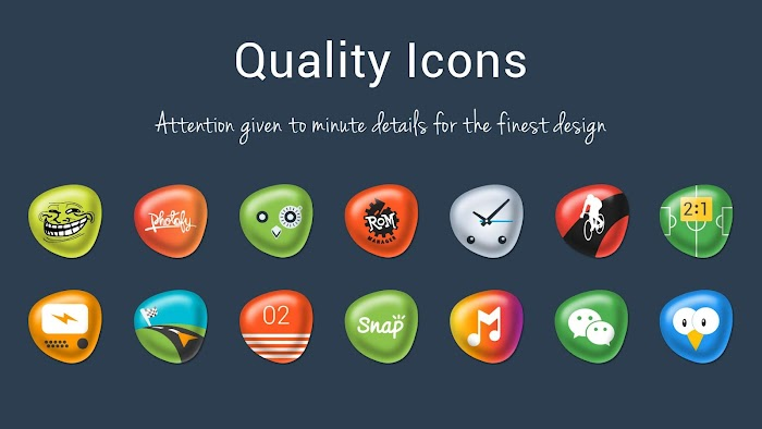 Pebbles Apex/Nova Icon Theme v4.1.0 APK