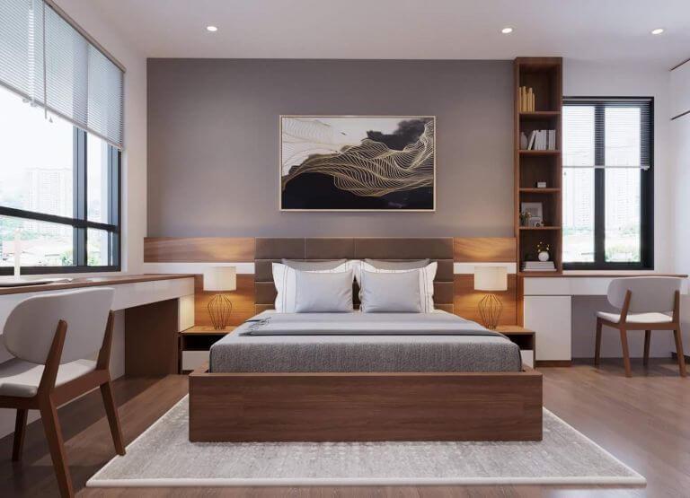 Không gian phòng ngủ cân bằng, thoáng đãng