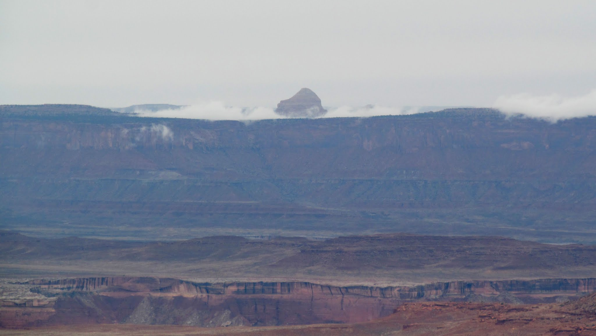 Photo: Cleopatra's Chair seen from the Orange Cliffs Overlook