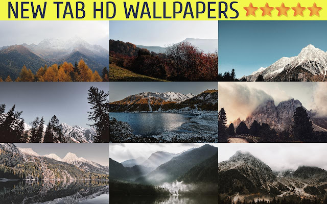 New Tab HD Wallpapers - Mountains