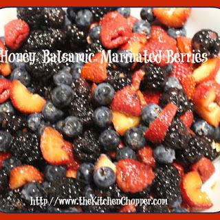 Honey, Balsamic Marinated Berries