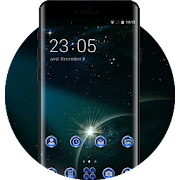 Space galaxy theme wallpaper sky planets stars icon