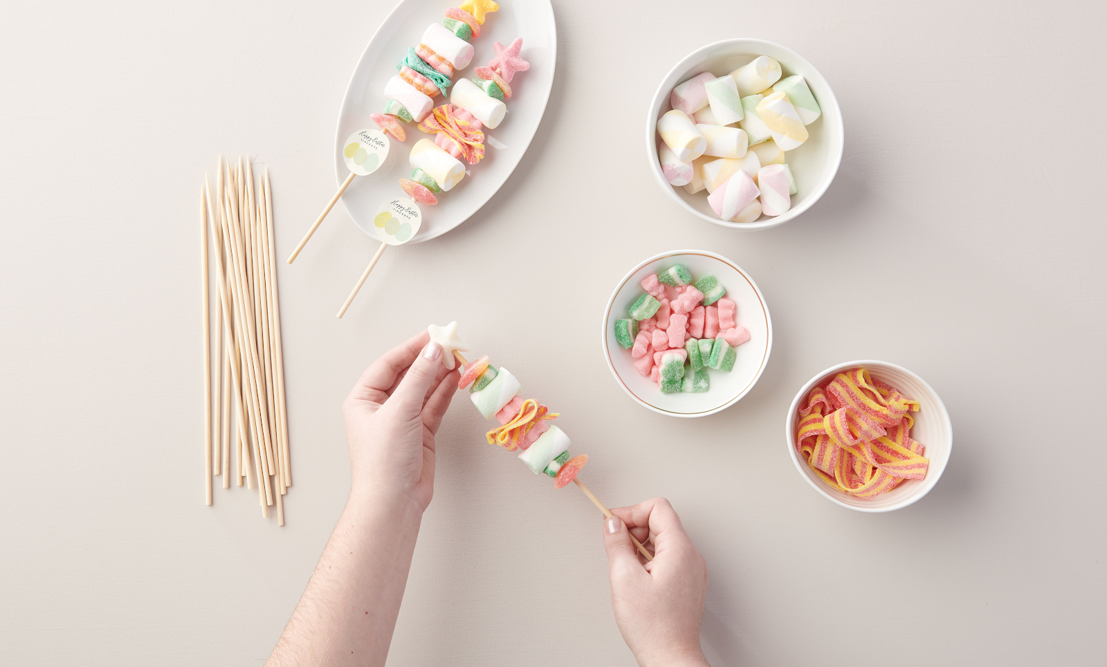 How to make your own Easter DIY Candy Kabobs
