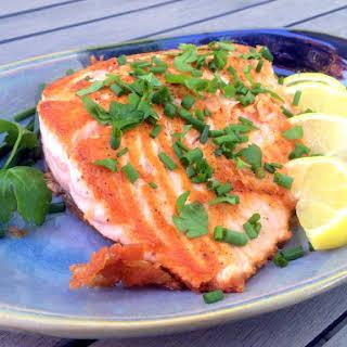 Simple Pan-Seared Salmon.