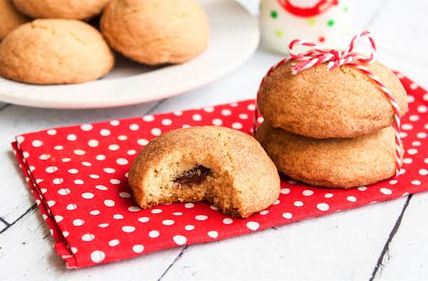 Chocolate Stuffed Snickerdoodles Ready To Be Enjoyed.
