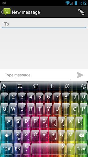 Theme TouchPal Glass Rainbow