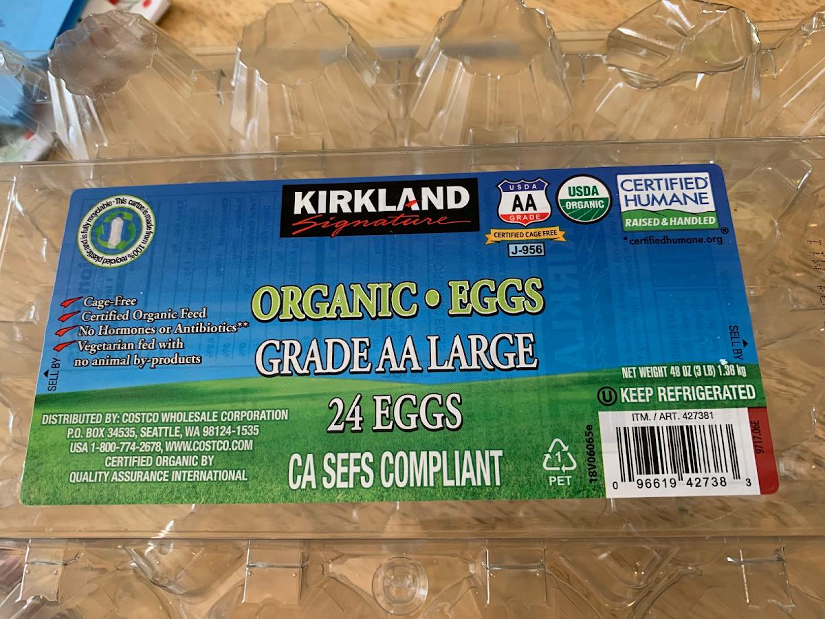 Organic Eggs - Grade AA Large