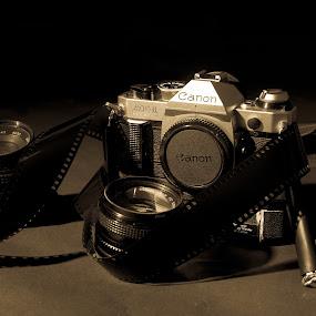 Old school by Andrew Savasuk - Artistic Objects Still Life ( film, canon, vintage, still life, camera )