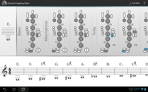 Clarinet Fingering Chart Apk Download  ApkpureCo
