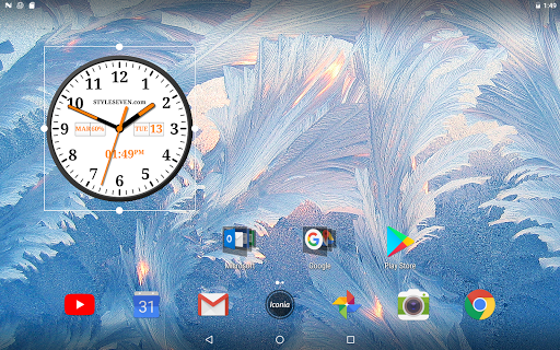 Analog Clock Widget Plus-7 PRO app for Android screenshot